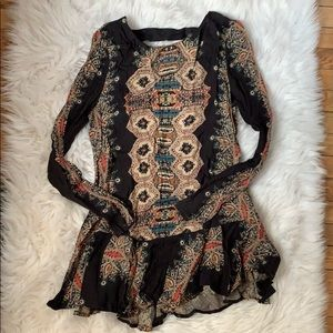 Free People tribal tunic dress